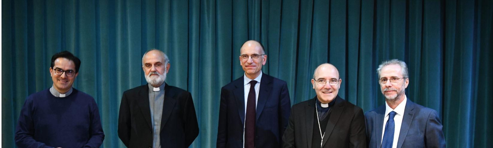 """Enrico Letta inaugura il nuovo A.A. 2019/2020 dell'Istituto di Scienze Religiose """"San Giuseppe Moscati"""""""