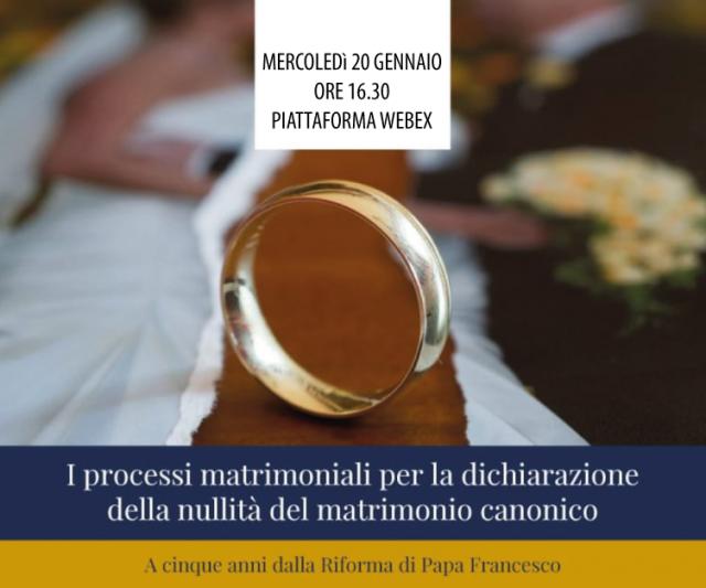 I processi matrimoniali per la dichiarazione della nullità del matrimonio canonico